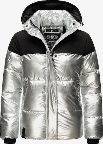 NAVAHOO Winter Jacket 'Sarafina' in Silver