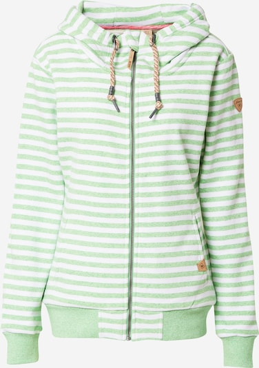 Bluză cu fermoar sport 'Krasiv' G.I.G.A. DX by killtec pe verde / alb, Vizualizare produs