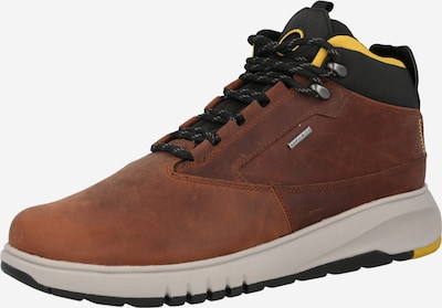 GEOX Lace-Up Boots 'AERANTIS' in Brown / Yellow / Black, Item view