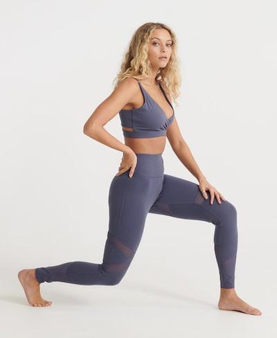 Superdry Leggings in dunkellila, Modelansicht
