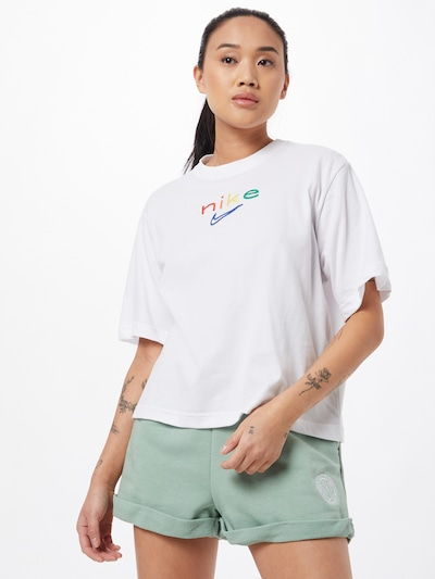 NIKE Toiminnallinen paita värissä sininen / keltainen / vihreä / punainen / valkoinen: Näkymä edestä