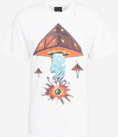 HUF T-Shirt 'DOOMSDAY' en bleu clair / jaune / orange / homard / blanc, Vue avec produit