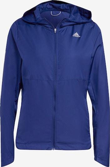 ADIDAS PERFORMANCE Sportjas 'Own the Run' in de kleur Blauw / Wit, Productweergave