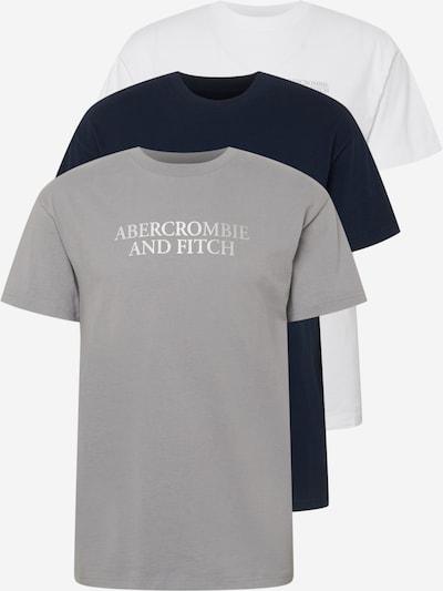 Abercrombie & Fitch Tričko - tmavomodrá / sivá / biela, Produkt