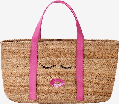 Crickit Strandshopper 'Malaga' in braun / pink, Produktansicht