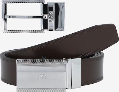 BOSS Casual Riem in de kleur Donkerbruin / Zwart / Zilver, Productweergave