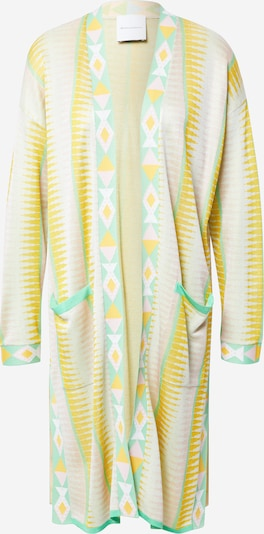 DELICATELOVE Kimono 'Ida' | rumena / žad / pastelno roza / bela barva, Prikaz izdelka