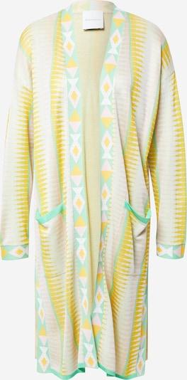 DELICATELOVE Kimono 'Ida' - žltá / nefritová / pastelovo ružová / biela, Produkt