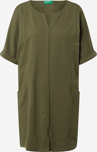 UNITED COLORS OF BENETTON Kleid in dunkelgrün, Produktansicht