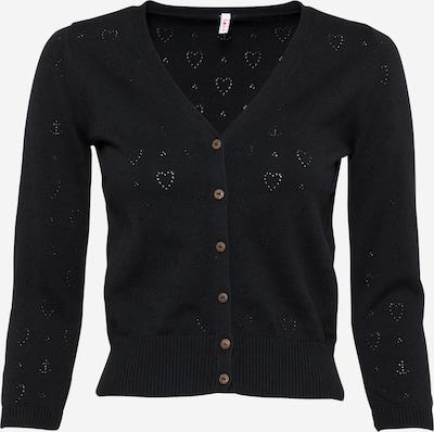 Geacă tricotată Blutsgeschwister pe negru, Vizualizare produs