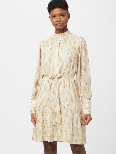 BRUUNS BAZAAR Košilové šaty 'Dahlia' - krémová / tmavě žlutá / zelená, Model/ka