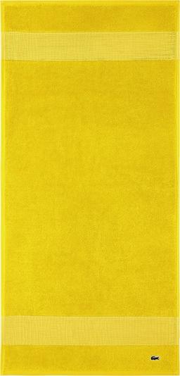 LACOSTE Handtuch-Set 'LE CROCO' in gelb, Produktansicht
