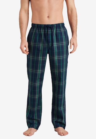 SCHIESSER Pyjamahose in navy / grün / weiß, Modelansicht