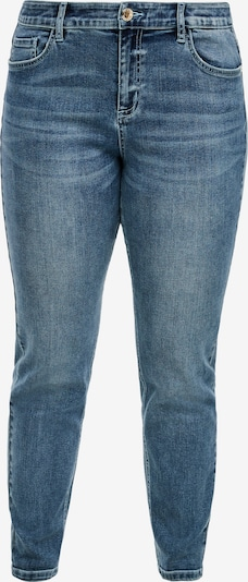 TRIANGLE Fancy Fit: Tapered ankle leg-Jeans in blau: Frontalansicht