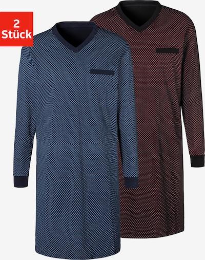 LE JOGGER Nachthemd in blau / rot / schwarz / weiß, Produktansicht