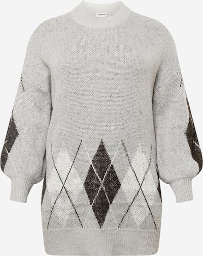Megztinis 'SIGRID' iš Noisy May Curve, spalva – kremo / margai pilka / juoda / balta, Prekių apžvalga
