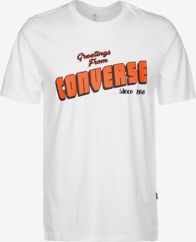 CONVERSE T-Shirt in orange / weiß, Produktansicht