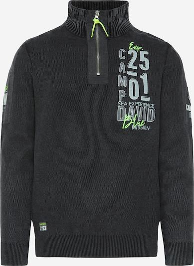 CAMP DAVID Pullover in schwarz, Produktansicht