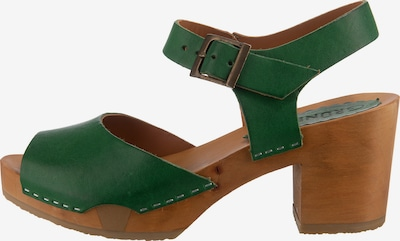 Grünbein Sandale in dunkelgrün, Produktansicht