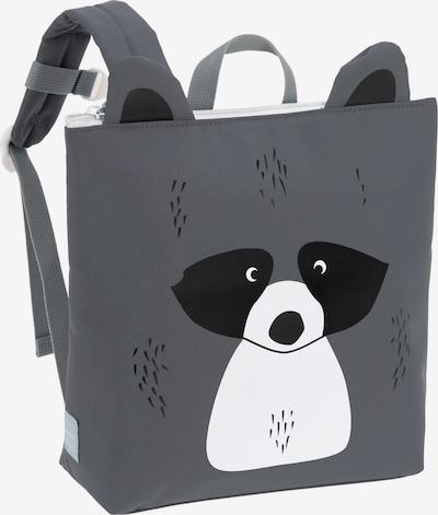 LÄSSIG Rucksack in anthrazit / schwarz / weiß, Produktansicht