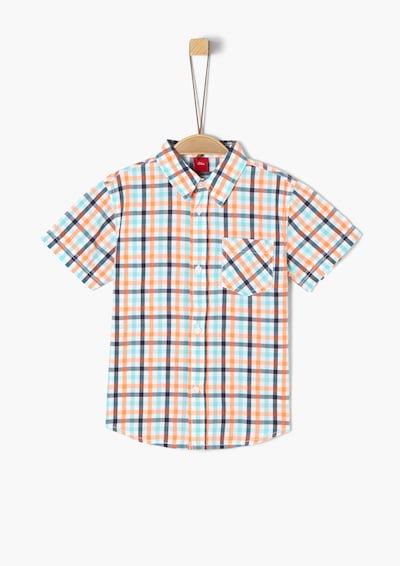 s.Oliver Kariertes Kurzarmhemd in mischfarben, Produktansicht