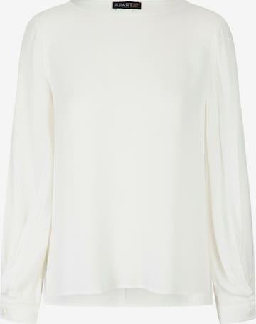 APART Bluse aus leicht körnigem Krepp in Weiß