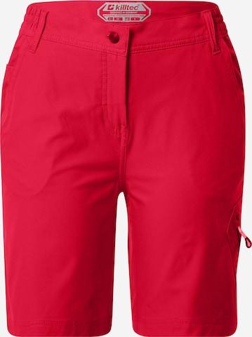 KILLTEC Vabaajapüksid 'Trin', värv punane