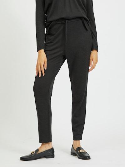 VILA Pantalon 'Lune' en noir, Vue avec modèle