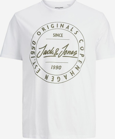 JACK & JONES Shirt in de kleur Donkergroen / Wit, Productweergave