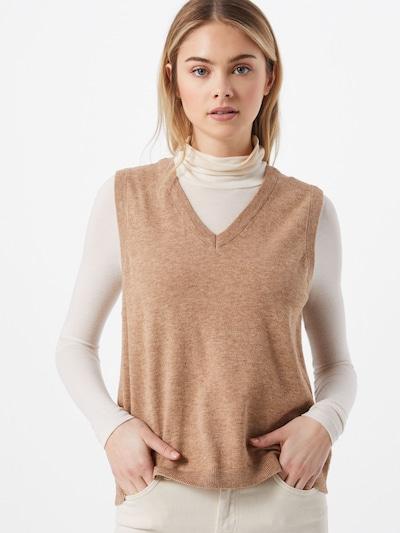 OBJECT Pullover 'OBJTHESS' i beige-meleret, Modelvisning