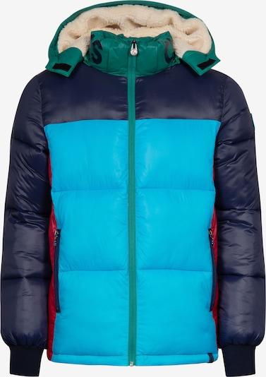 COLOURS & SONS Winterjacke 'Andrea' in blau / rot, Produktansicht