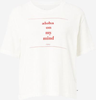 ROXY Sport-Shirt in rot / weiß: Frontalansicht