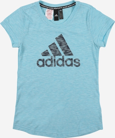 ADIDAS PERFORMANCE Functional shirt in turquoise / black, Item view