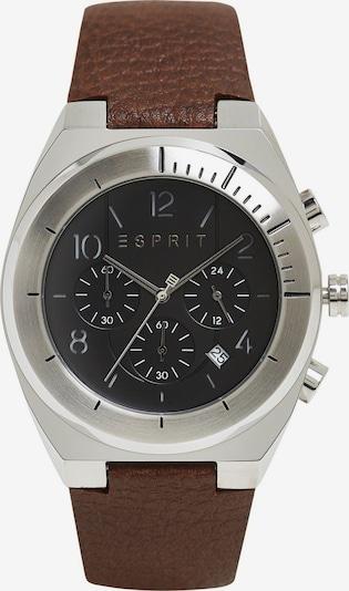 ESPRIT Montre à affichage analogique en marron / noir / argent, Vue avec produit