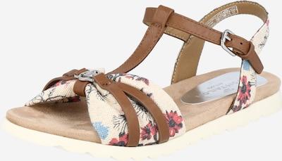 TOM TAILOR Sandale in creme / navy / braun / pitaya, Produktansicht