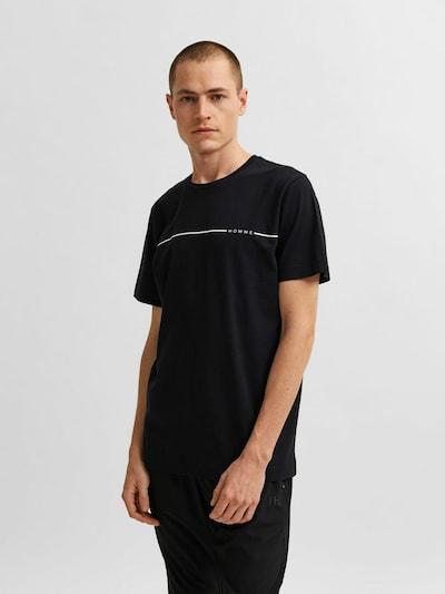 SELECTED HOMME Shirt in de kleur Zwart / Wit: Vooraanzicht