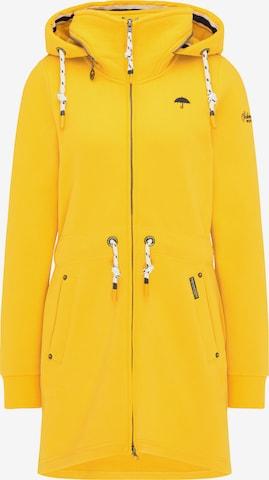 Schmuddelwedda Zip-Up Hoodie in Yellow