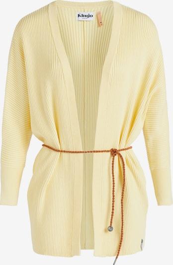 khujo Gebreid vest in de kleur Geel / Lichtgeel, Productweergave