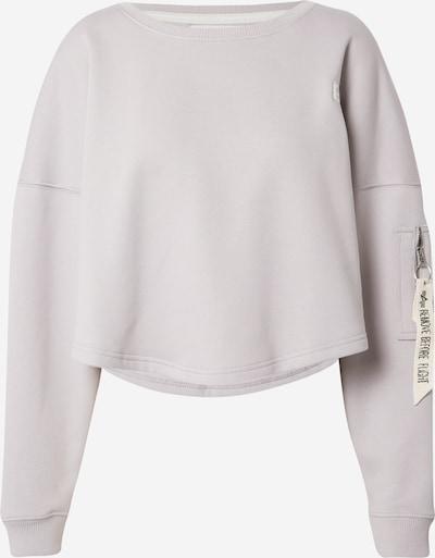 ALPHA INDUSTRIES Sweatshirt in hellgrau, Produktansicht