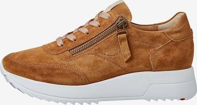 LLOYD Leder-Sneaker mit Reißverschluss in braun, Produktansicht