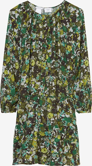 Marc O'Polo Pure Kleid in beige / grün / oliv / dunkelgrün / weiß, Produktansicht