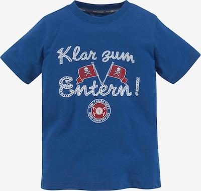 Tom Tailor Polo Team T-Shirt in blau / dunkelrot / weiß, Produktansicht