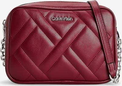 Calvin Klein Tasche in rubinrot / silber, Produktansicht