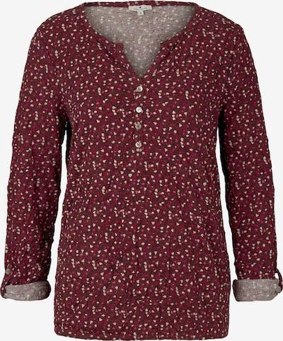 TOM TAILOR T-Shirt in dunkelblau / hellgelb / pink / bordeaux, Produktansicht