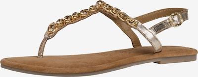 TAMARIS Sandale u zlatna / srebro, Pregled proizvoda