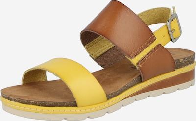 Sandale cu baretă Refresh pe maro caramel / galben, Vizualizare produs