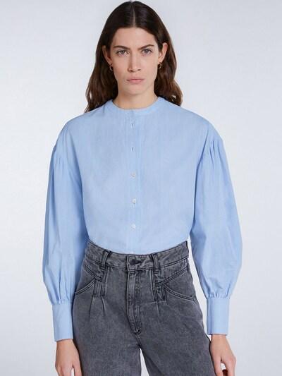 SET Bluse in rauchblau, Modelansicht