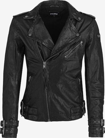 tigha Lederjacke  ' Baik ' in schwarz, Produktansicht