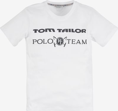 Tom Tailor Polo Team Shirt in Black / White, Item view