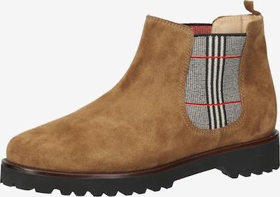 Ganter Chelsea Boots in hellbraun / grau / rot, Produktansicht